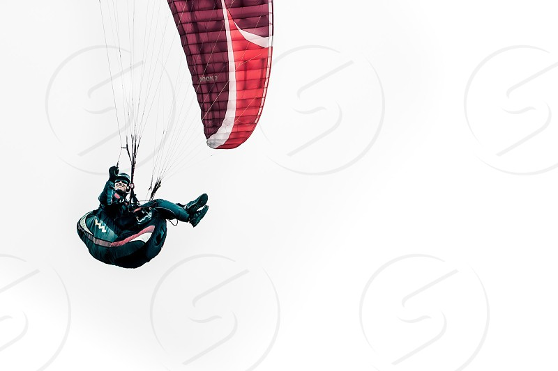 person parachuting  photo
