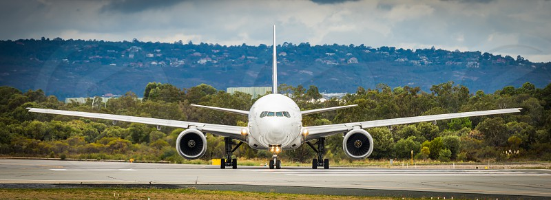 Aircraft operating out of Perth Airport Western Australia. photo