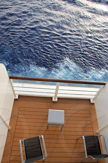 Cruise ship private verandah photo