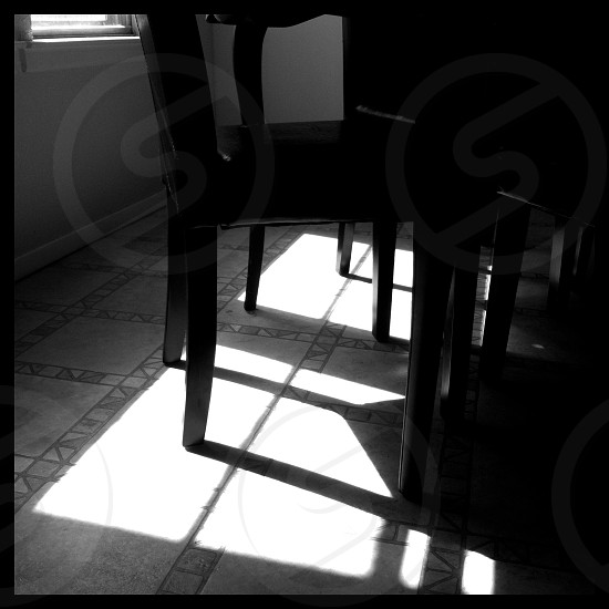 Sunlight shadow window contrast b&w daylight  photo