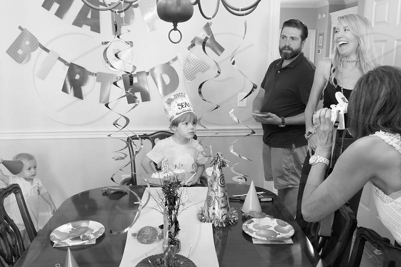 Family celebration child Birthday  photo