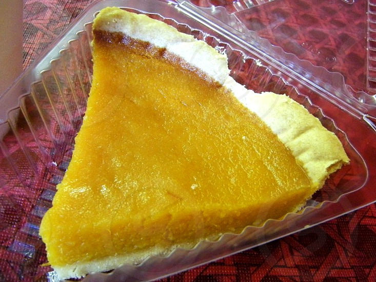 Sweet potato pie slice photo