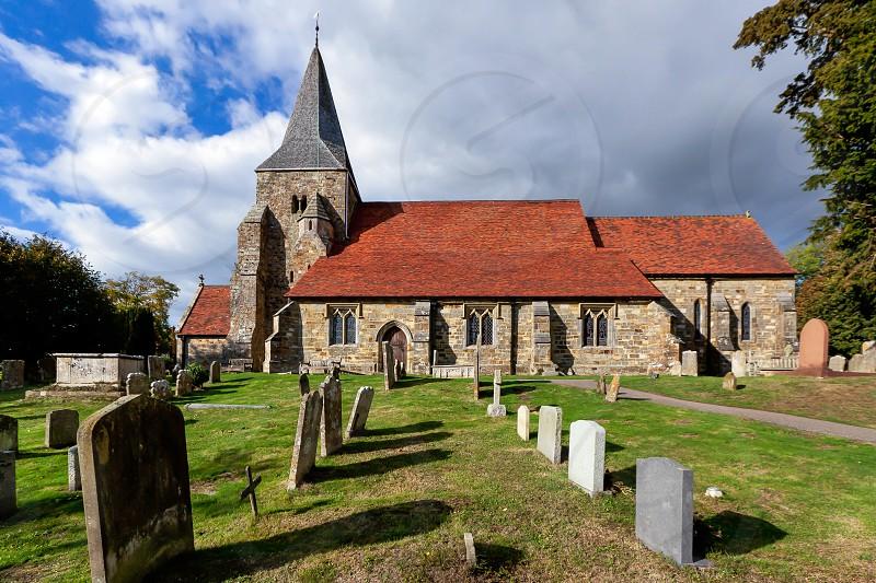 View of Burwash Church photo