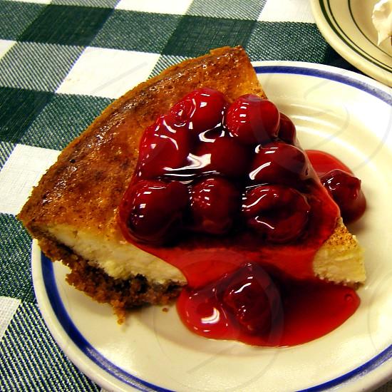 Cherry cream cheese pie photo
