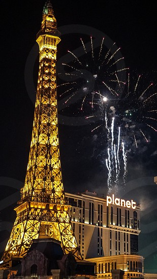Fireworks Las Vegas Paris photo