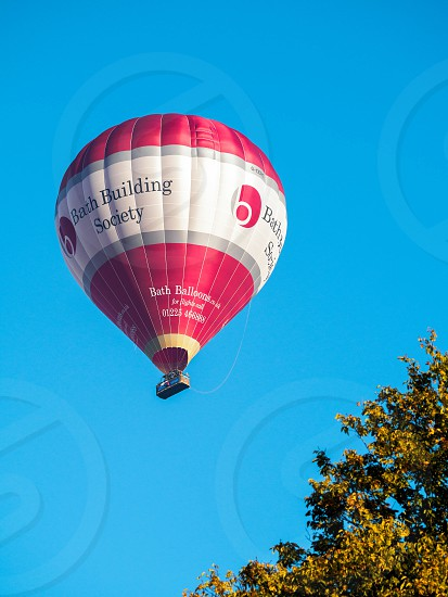 Hot Air Balloon Flying over Bath photo