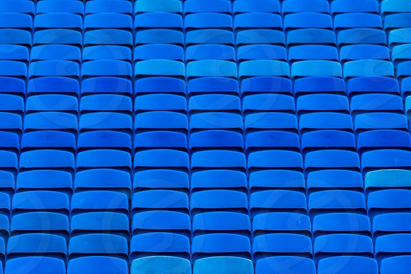 empty blue seat - Edinburgh castle photo