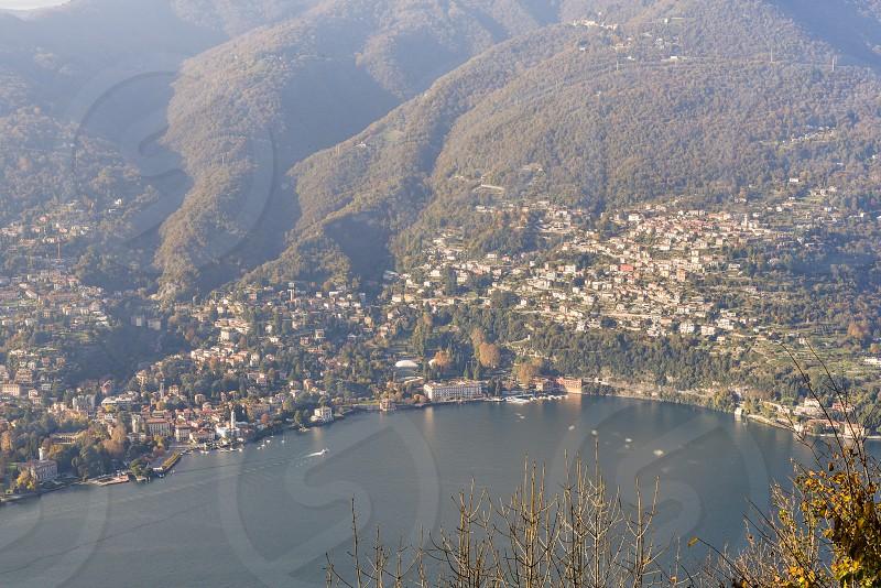 lake como italy northern italy milan tuscan europe romantic lake villa view photo