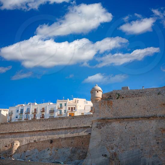 Peniscola Castle in Castellon Valencian community of spain photo