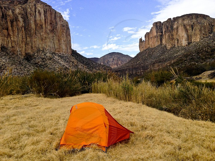 Camping on Texas-Mexico Border photo
