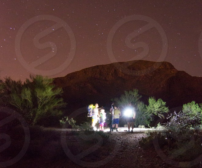 Tucson Mountain Park Starr Pass Resort Tucson Arizona Night Hike photo