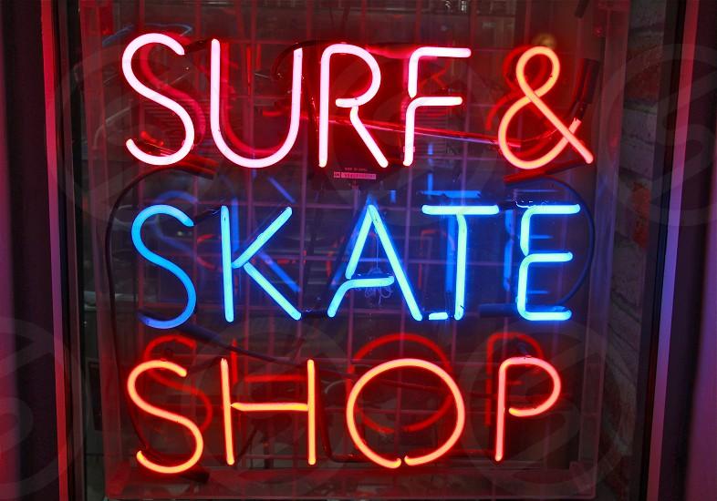 surf and skate shop signage photo