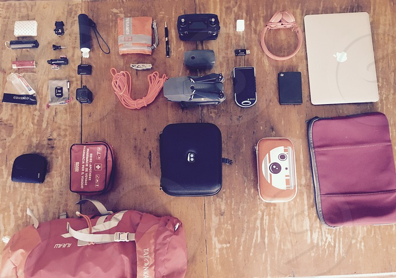 All the things I carry with me when i travel  photo