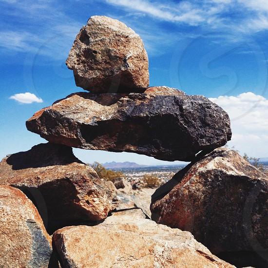Topside of Thunderbird Preserve looking at Four Peaks Az photo