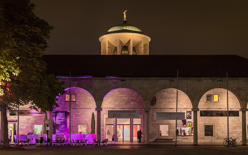 Stuttgart city in Germany at night photo