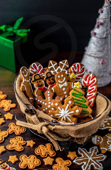 Christmas Christmas cookies gingerbread gingerbread men holidays candy cane snowflakes Christmas tree Santa snowmen Christmas time cookies  photo