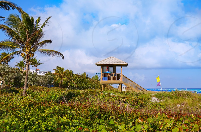 Del Ray Delray beach in Florida USA baywatch tower photo