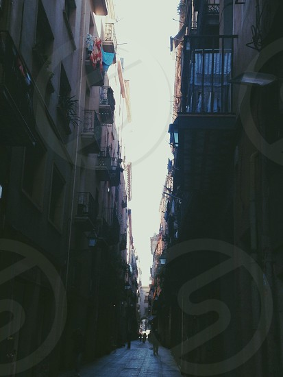 The streets of Barcelona.  photo