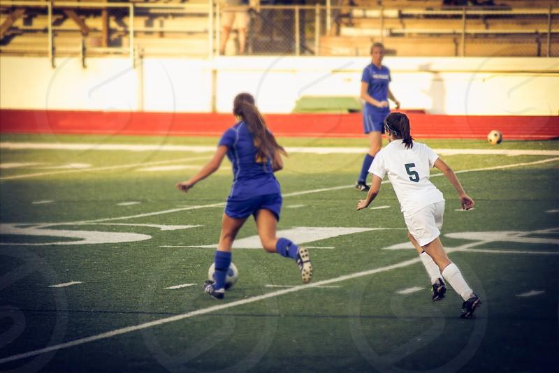 female soccer play photo