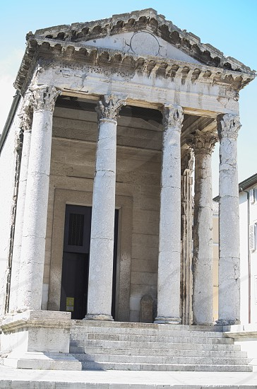 Temple of Augustus in Pula Croatia Ancient Roman Architecture photo