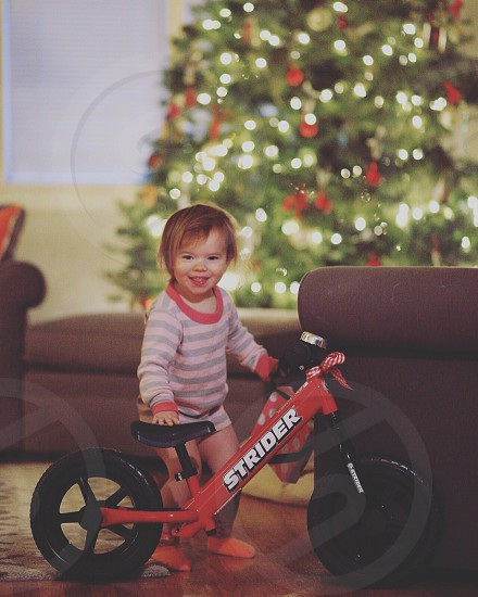 Her first bicycle.  photo