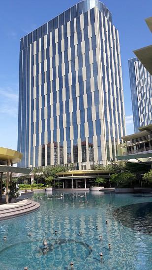 cityarchitecturebuiding fountainskyblue. photo