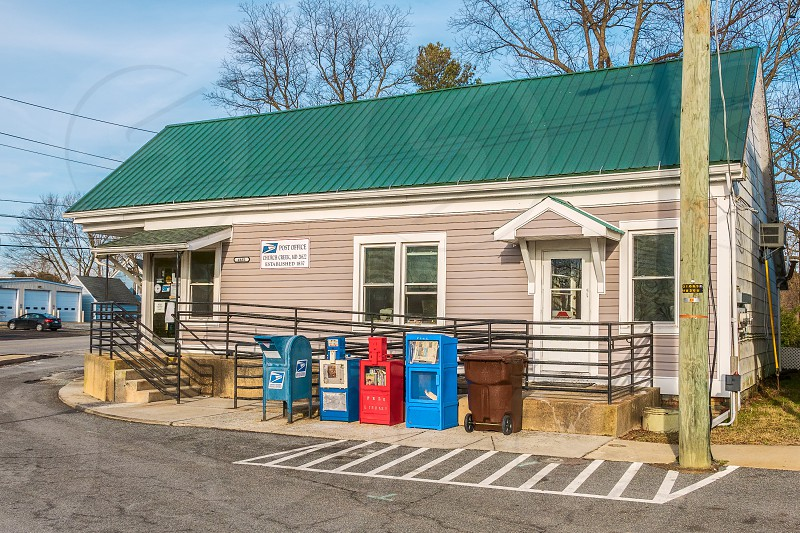 Exterior of US Post Office in Church Creek Maryland. 21622 photo