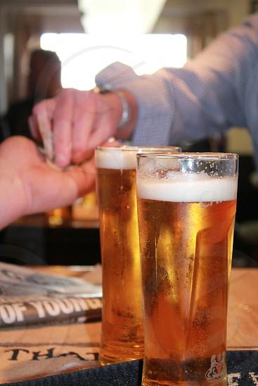 Trade at the pub.  photo