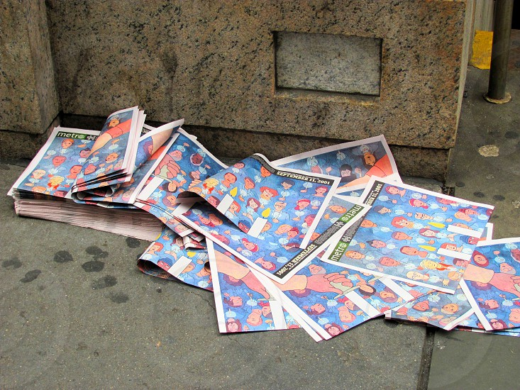 Trash on New York City Streets Newpapers photo