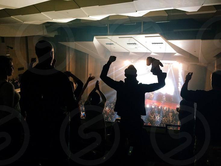 Concert fan people silhouette  photo