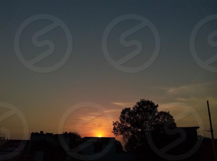 #sunset #india photo