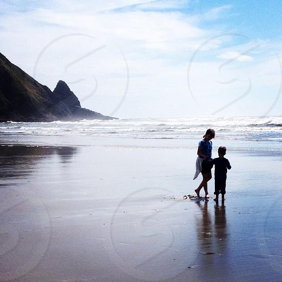 Beach Oregon pacific coast kids photo