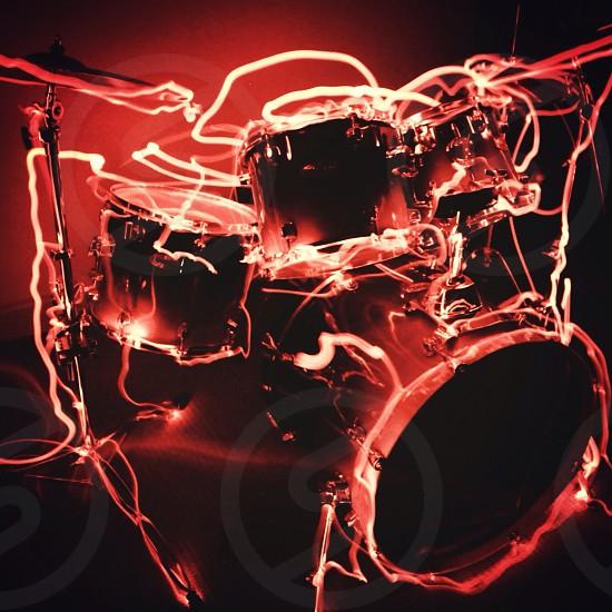 lighting drum set photo