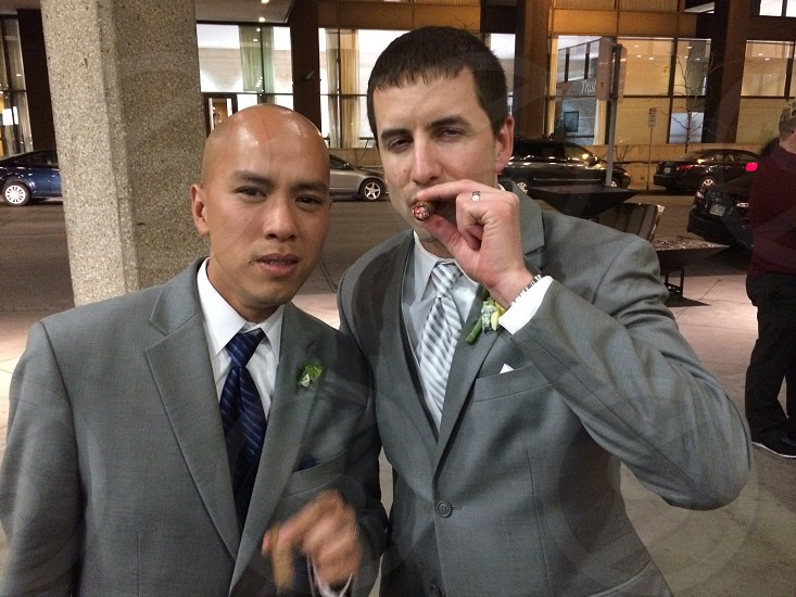 Cigar for the Groom. photo