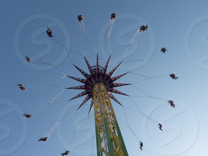 Amusement park ride photo