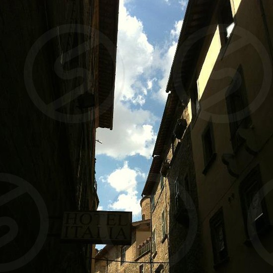 Bright sky Tuscany photo