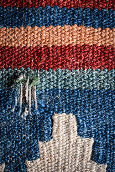 Old woven rug closeup  photo