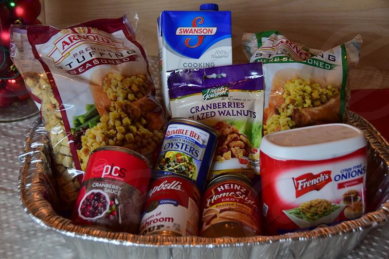 Thanksgiving prep ingredients & Turkey photo