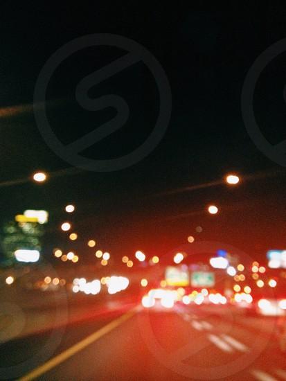 car taillights  photo