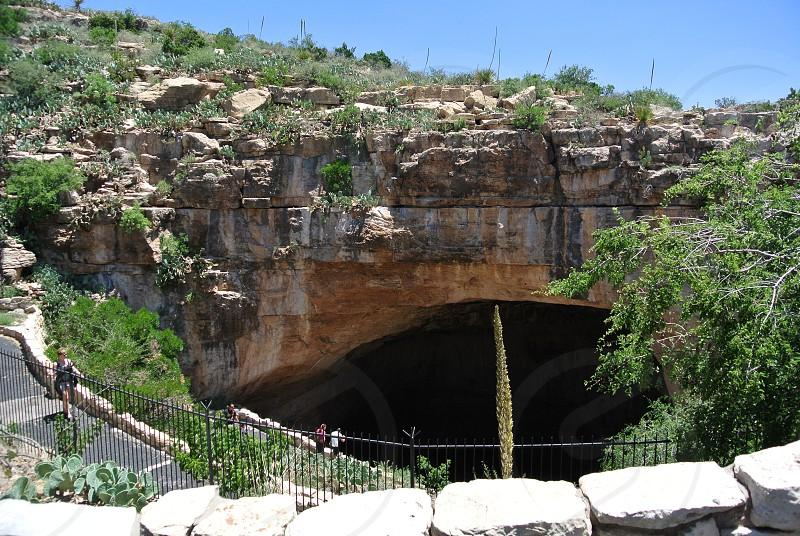 Looking down at the Natural Entrance at Carlsbad Caverns National Park photo