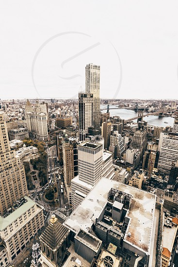 aerial photography of high-rise buildings photo