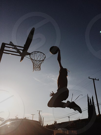 man dunking photo
