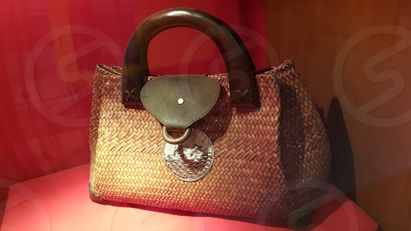 Bags made from natural ladies bags. photo