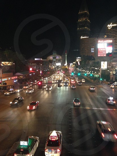 Las Vegas Boulevard. Motion. Night. photo