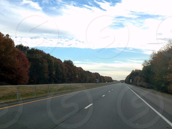 Interstate highway in the fall photo