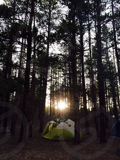 Camping in the San Isabel National Forest Colorado photo
