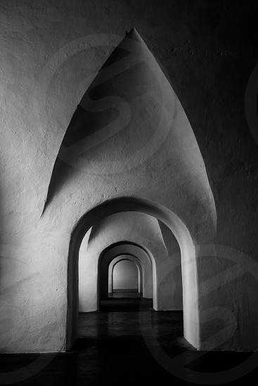 Simple beauty comes alive amongst the hallways in the depths of a Puerto Rican Fortress. photo