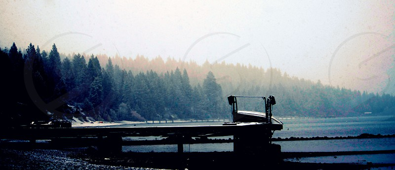 black platform at daytime photo