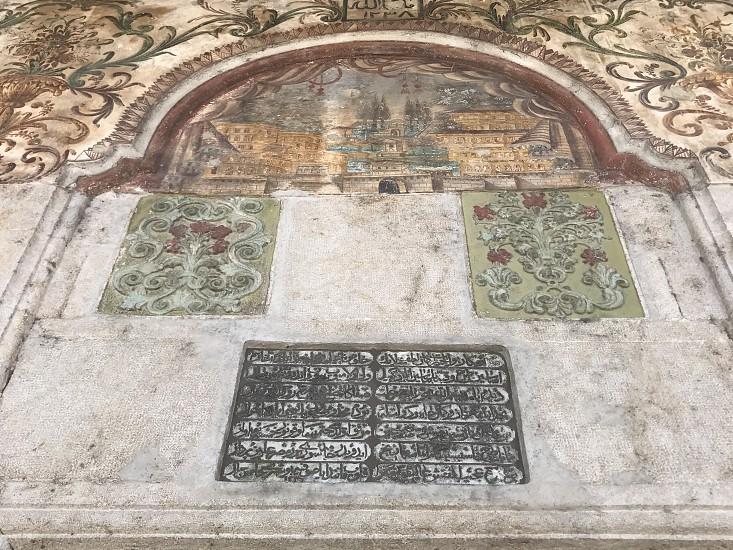 Frescoes of the Ethem Bey mosque Tirana Albania photo