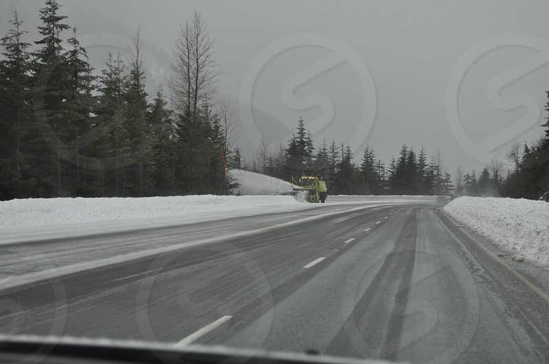 Snow Ice Frozen Highway Snowplow photo
